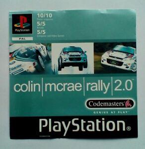 * Incrustation Avant Seulement * Colin Mcrae Rally 2 2.0 Incrustation Avant Ps1 Psone Playstation-afficher Le Titre D'origine K3grcoz3-07185918-721690018