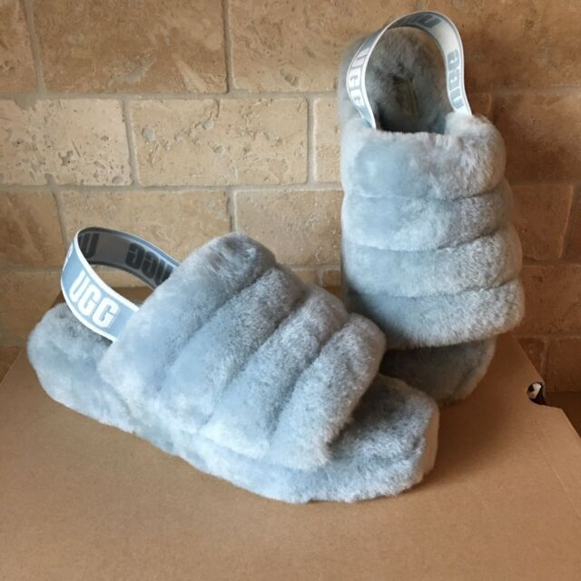789aded72 UGG SUCCULENT FLUFF YEAH SLIDE SHEEPSKIN SLINGBACK SHOES SLIPPERS SIZE 9  WOMENS