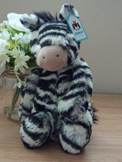 Jellycat  Zebra Medium Bashful Soft Toy Collectable BNWT