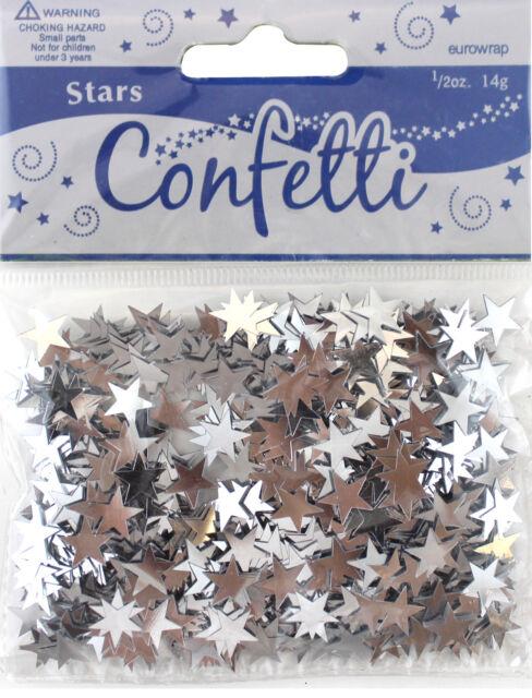 Silver Star Party Table Confetti Foiletti Decoration 14-84g