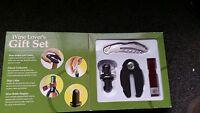 - Sonoma Wine Lover's Gift Set - Foil Cutter Corkscrew Drip Collar Stopper