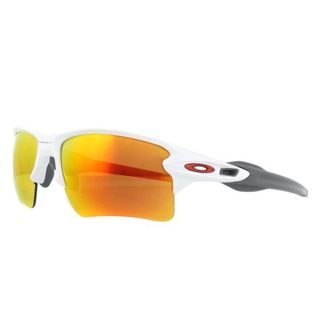 Oakley Sunglasses Flak 2.0 XL OO9188-93 Polished White Prizm Ruby