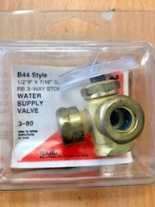 3-Way-Solid-Brass-Dual-Angle-Stop-Water-Supply-Valve-1-2-034-IP-x-7-16-034-Slip-Joint