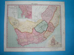 1848-ORIGINAL-MAP-SOUTH-AFRICA-CAPE-TOWN-NATAL-RHODESIA-NAMIBIA-ORANJE-TRANSVAAL