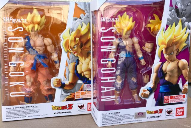 Bandai S.H.Figuarts Dragonball Z Super Saiyan Son Goku Awakening And Son Gohan.