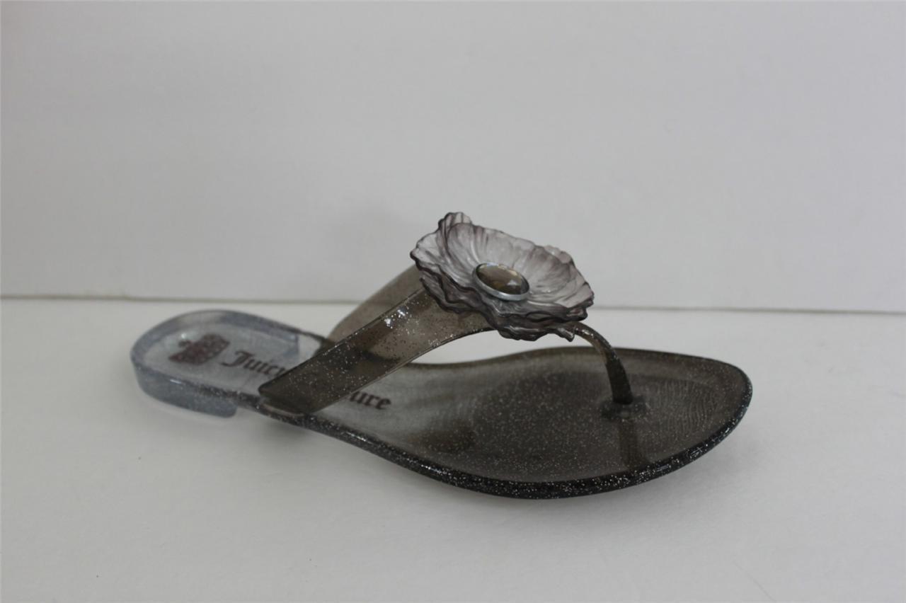 Juicy Couture Lordes para mujer Talla 6 6 6 M gris Translúcido Jelly Superior Zapato plano Nuevo En Caja  saludable