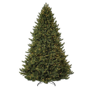 Fake Christmas Tree.Details About Artificial Vermont White Spruce Fake Christmas Tree Easy Holiday Decoration