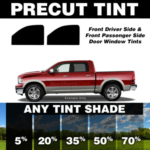 Precut Window Tint for Ford F-450 Crew Cab 17-18 Front Doors Any Shade
