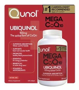 Best Coq10 Supplement 2020 NEW! Qunol Mega CoQ10 100 mg Ubiquinol, 120 Softgels EX 4/2020 | eBay