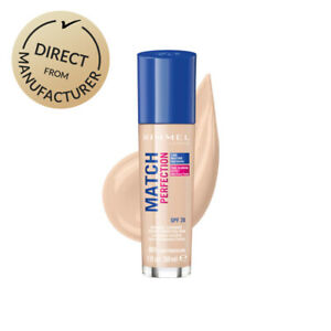 Rimmel Match Perfection Foundation Hydrating SPF20 30ml  Various colours