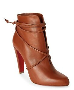 cdde1e3f106c Image is loading Christian-Louboutin-S-I-T-Wrap-100mm-Leather-Ankle-Booties-
