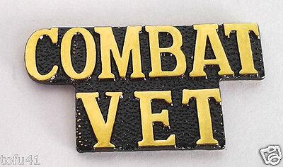 *** COMBAT VET *** Military Veteran Hat Pin 15178 HO