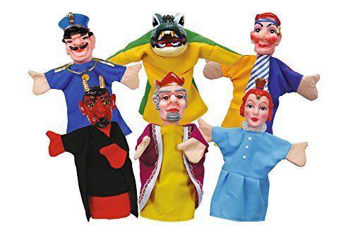 Simba 104586784 Punch and Judy Hand Puppet Set 6-Piece