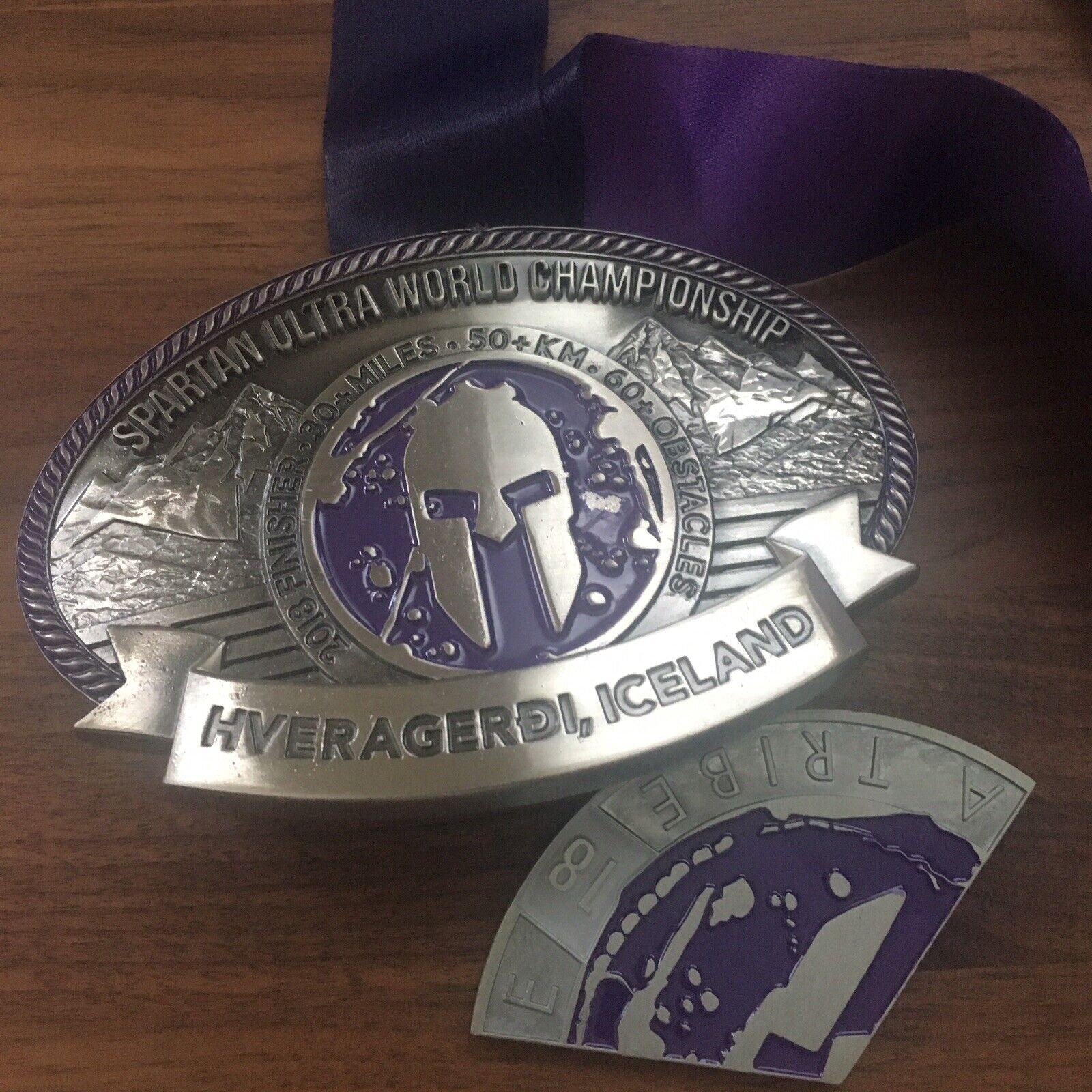 Spartan Race Ultra Campeonato del Mundo ISLANDIA 2018 Hebilla Medalla Rara