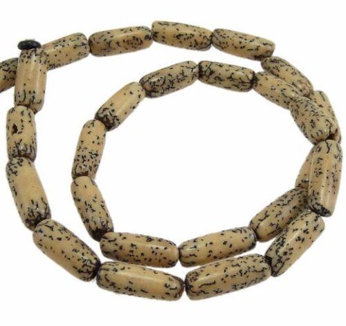 Madera perlas oval 14mm naturaleza coco bovino madera perlas bastelholz Best h73
