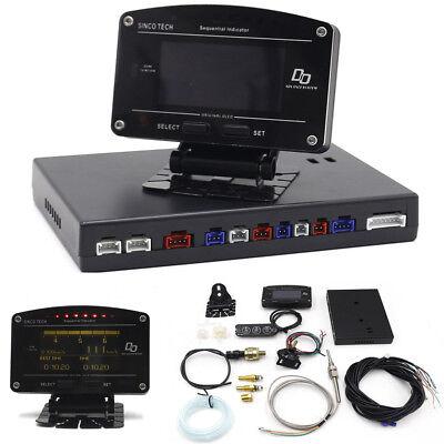11 In 1 Rally Motorsport Dashboard Display Race Car Gauge Meter Full Sensor Kits
