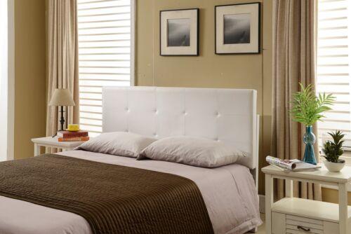 Tufted Design Upholstered Adjustable Full White ~New~ Queen Headboard