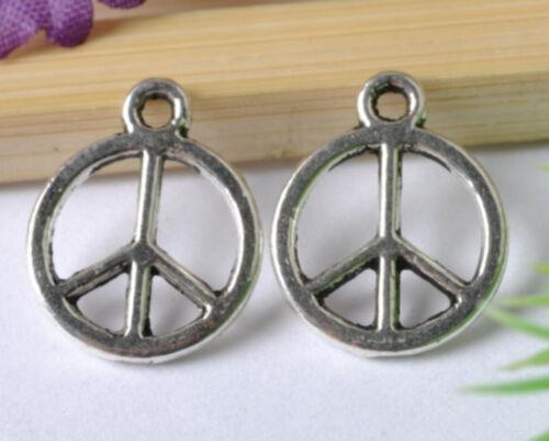 20pcs  tibetan silver Peace symbol pendant SH38