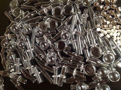 Wholesale Lot 20 Glass Art Bottles/ Vials Pendant Key chain Charms/ Necklace