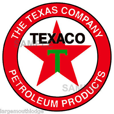 2 INCH TEXACO WATERSLIDE DECAL STICKER SEVERAL STYLES SIZES AVAILABLE T6S