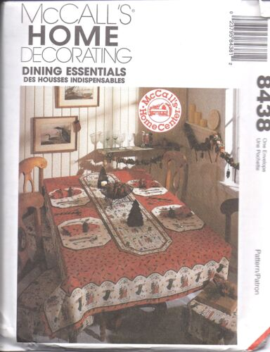 8438 UNCUT McCalls SEWING Pattern HOME DECOR Dining Essentials Tablecloths OOP