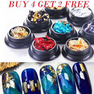 Nail-Art-Glitter-Aluminum-Foil-3D-Flake-Sticker-UV-Gel-Polish-Paillette-Decors