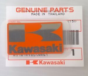 KAWASAKI /'K/' GREEN /& BLACK STICKER BADGE FAIRING EMBLEM 42mm x 24mm **UK STOCK**