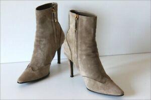RALPH-LAUREN-Bottines-Boots-Daim-Marron-Clair-T-7-5-39-TTBE