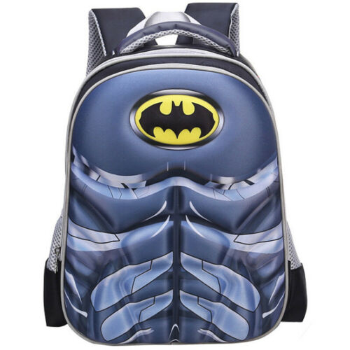 Kids America Batman School Bag Spiderman Backpack Captain Boys Children Cartoon