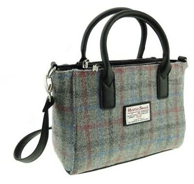 Genuine Harris Tweed Handbag Tote Grey