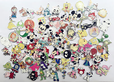 WHOLESALE New Lot Mixed Cartoon DIY Metal Charms Jewelry Making pendants Gifts