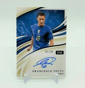 2020 Panini Immaculate Collection Soccer FRANCESCO TOTTI #01/10 Autograph Italy