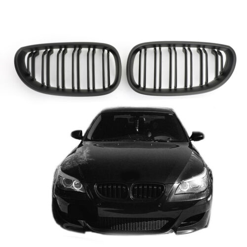 Matte Black Front Grille de calandre ABS Pour 04-2009 BMW E60 E61 M5 520i 530i