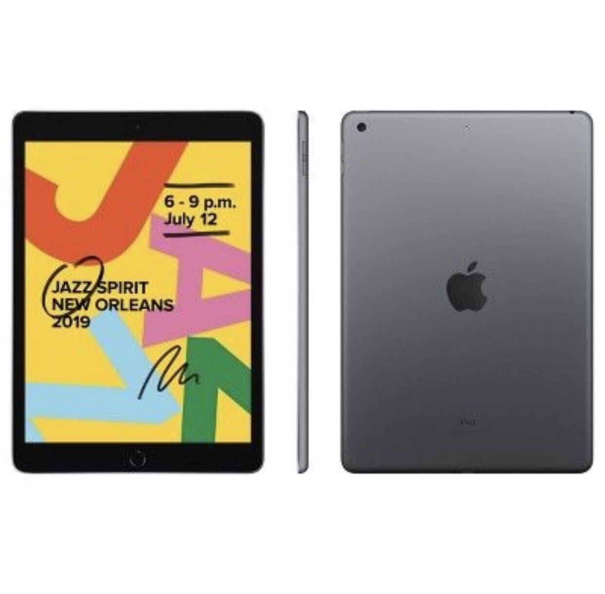 Apple Ipad 7th Gen 128gb Wi Fi 10 2 In Space Gray For Sale Online Ebay