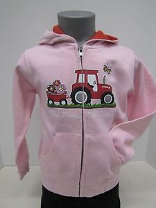 "Case IH ""Dirt Makes Me Cuter"" Pink Toddler Zip Hoodie"