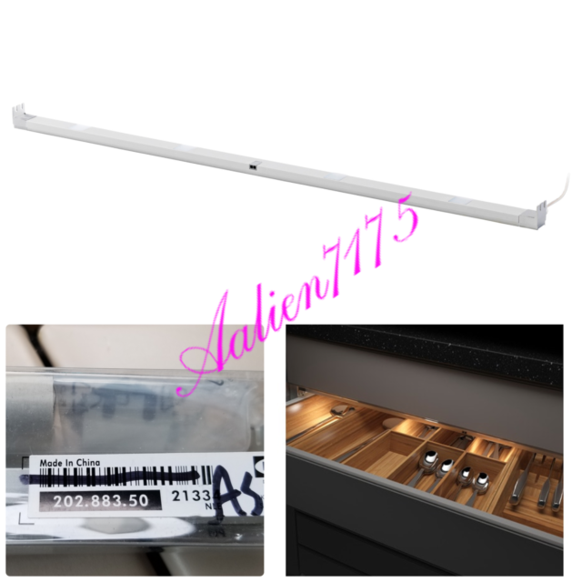 Ikea Omlopp Led Lighting Strip For Drawers 34 Aluminium 202 883 50 Discontinued