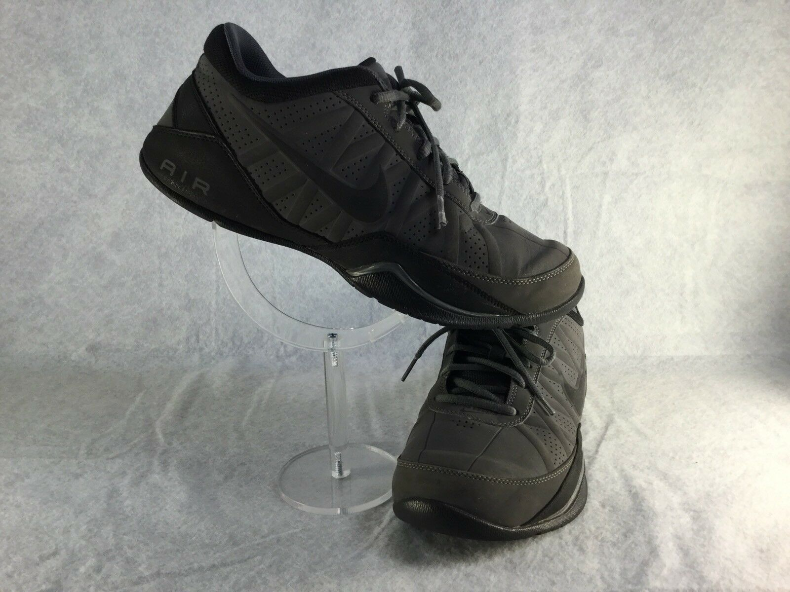 2012 Nike Air Ring Leader [SB59] Gray/Black Low Basketball Shoes size 7.5 [SB59] Leader 75c858