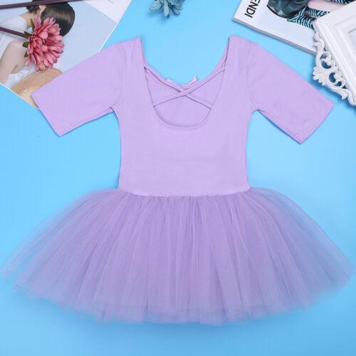 Girl Kids Ballet Tutu Dress Gymnastics Leotard Ballerina Dance Costume UK Stock
