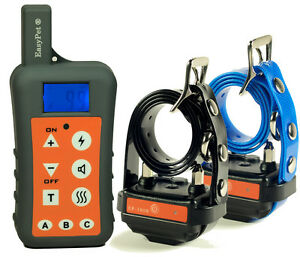 Pour-deux-chien-EasyPet-1200m-etanche-rechargeable-collier-de-dressage-Trainer
