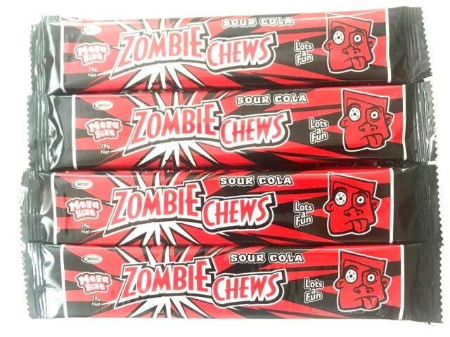 30 x 28g Zombie Chews Sour Cola Flavour Lollies