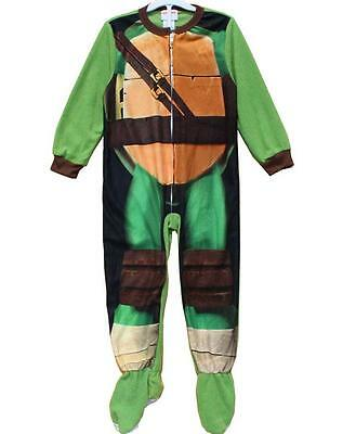 J05 -  Ninja Turtle  Kids Onesie Footed Pyjamas PJs Size 4 5 6 7 8