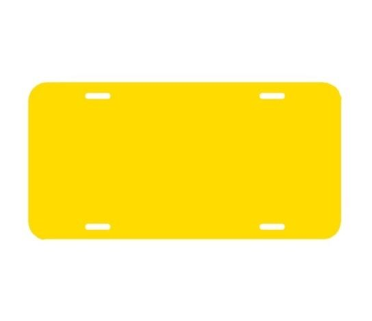 "Yellow blank PLASTIC LICENSE PLATE 6/""H X 12/""W  .050 CREATE YOUR OWN DESIGNS"