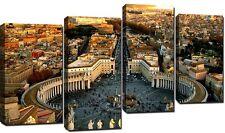 Quadro Moderno 4 Pezzi CM 140x75 Stampa su Tela Arredamento Arte Casa Roma