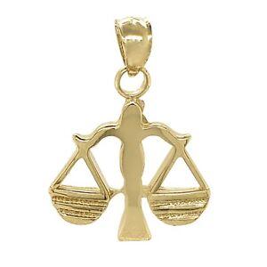 14k Yellow Gold Zodiac Libra Pendant