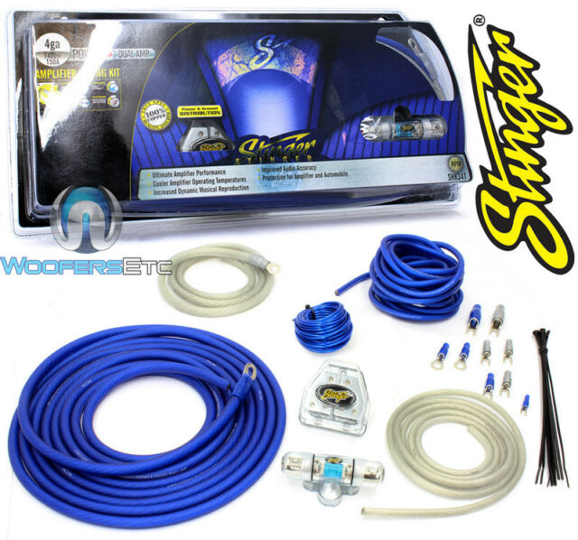 Astounding Stinger 4Gauge Power Dual Amplifier Wiring Kit Shk341 For Sale Wiring Cloud Hisonuggs Outletorg