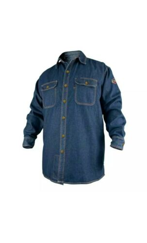 Black Stallion FS8-DNM FR Cotton Denim Long Sleeve Work Shirt 2X-Large