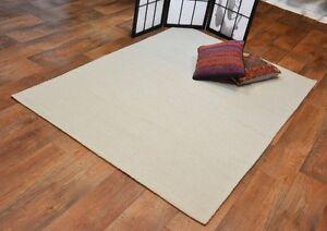 handgewebter-Teppich-Kelim-Kilim-aus-Wolle-ca-200-x-140-cm-hell-Beige