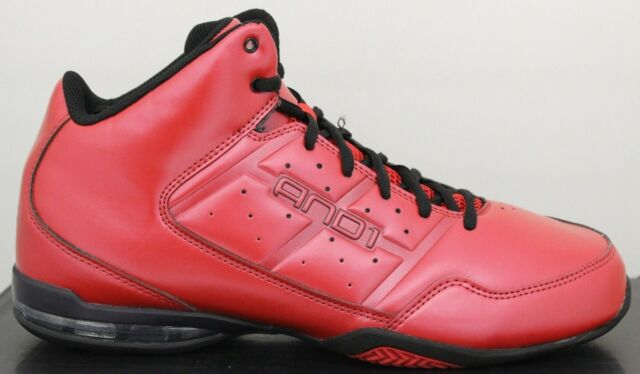 5b6bc5c4833ff AND1 Men's Basketball Sneakers Master Mid Varsity Red/Black D1060MRRB And 1