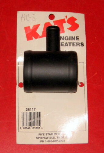 """Hy-Capacity part # HK28117 Kat/'s 28117 Engine Heater Lower Hose Connector 2/"""""""