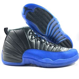 Nike Air Jordan 12 Retro GS Game Royal Blue Black 153265-014 6Y-7Y Women 7.5-8.5